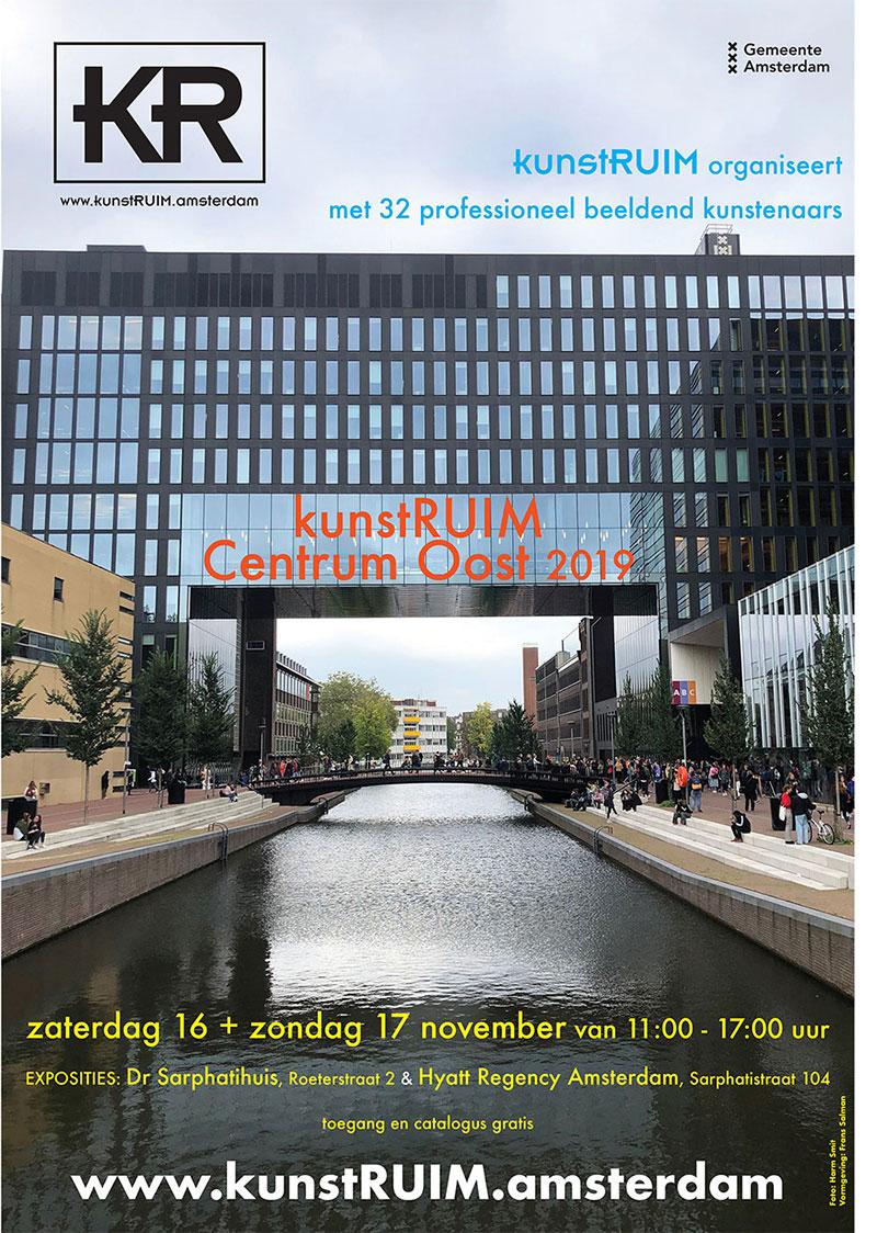 Affiche kunstRUIM Centrum Oost