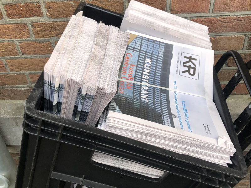 Verspreiding krant