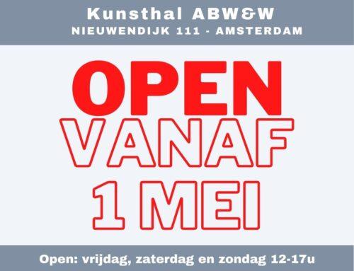 Galerie kunstRUIM & kunsthal ABW&W heropent haar deuren!